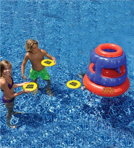 Slot Slam Flying Disc Floating Pool Game